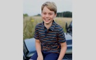 Britain's Prince George poses ahead of his eighth birthday in this picture taken by his mother, Catherine, the Duchess of Cambridge, in Norfolk, Britain July 2021. The Duchess of Cambridge via REUTERS