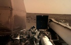 The Instrument Deployment Camera (IDC), located on the robotic arm of NASA's InSight lander, took this image of the Martian surface the day the spacecraft touched down on the Red Planet, and was relayed from InSight to Earth via NASA's Odyssey spacecraft, currently orbiting Mars, on November 26, 2018. NAS via REUTERS