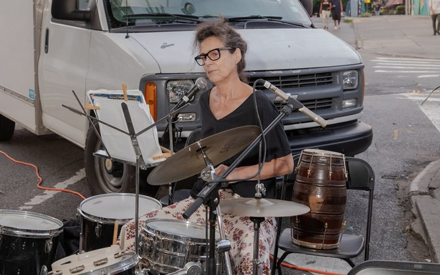 A member of a punk duo performing at an Open Streets concert. The New York Times