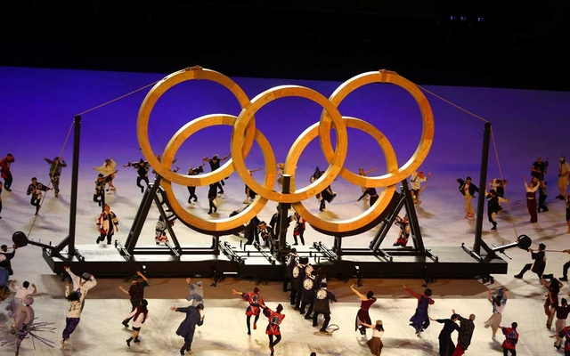 Performers are seen during the opening ceremony. Tokyo 2020 Olympics - The Tokyo 2020 Olympics Opening Ceremony - Olympic Stadium, Tokyo, Japan - July 23, 2021. Reuters