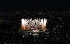 Fireworks during the opening ceremony are seen above the Olympic Stadium, from the Shibuya Sky observation deck. Tokyo 2020 Olympics - The Tokyo 2020 Olympics Opening Ceremony - Olympic Stadium, Tokyo, Japan - July 23, 2021. Reuters