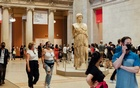 Masked patrons visit the The Metropolitan Museum of Art on a Saturday in Manhattan, July 10, 2021. The New York Times