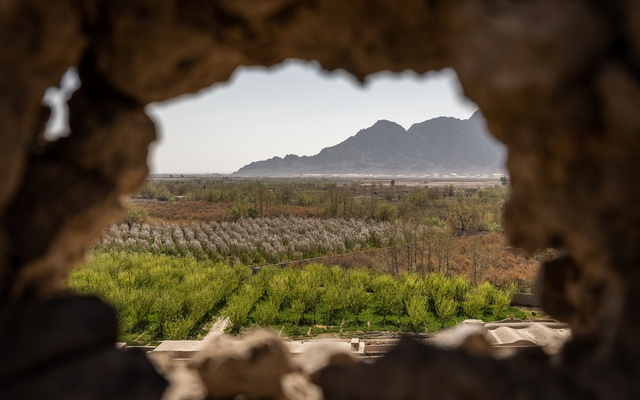 The view from a police and army outpost in Afghanistan's Kandahar province, March 7, 2021. US military aircraft struck a number of Taliban positions in July, one of the first significant American reactions to the insurgents as US troops withdraw. (Jim Huylebroek/The New York Times)