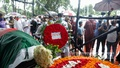People from all walks of life turned out to pay their respects to departed freedom fighter and folk music icon Fakir Alamgir at Dhaka's Central Shaheed Minar on Saturday, July 24, 2021. Photo: Mahmud Zaman Ovi