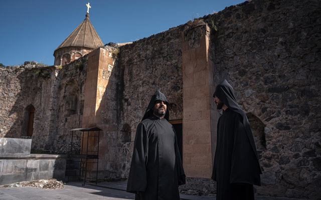 Armenian monks, protected by Russian peacekeepers, still serve at Dadivank Monastery in Kelbajar, the only place retaken by Azerbaijan where Armenians are known to have remained, June 24, 2021. The New York Times