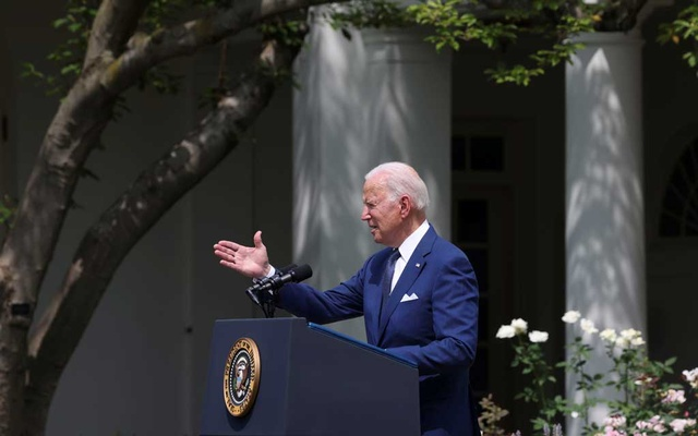 US President Joe Biden delivers remarks during an event to celebrate the 31st anniversary of the Americans with Disabilities Act (ADA) in the White House Rose Garden in Washington, US, July 26, 2021. REUTERS/Evelyn Hockstein