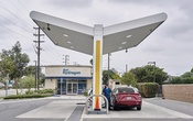 A person fuels their Toyota Mirai at a hydrogen fuel pump in Torrance, Calif, Oct 22, 2020. The New York Times