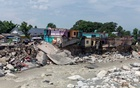 A view shows damaged houses along Manjhi River after flash floods in Chetru village in the Kangra district of the northern state of Himachal Pradesh, India, Jul 13, 2021. REUTERS/FILE