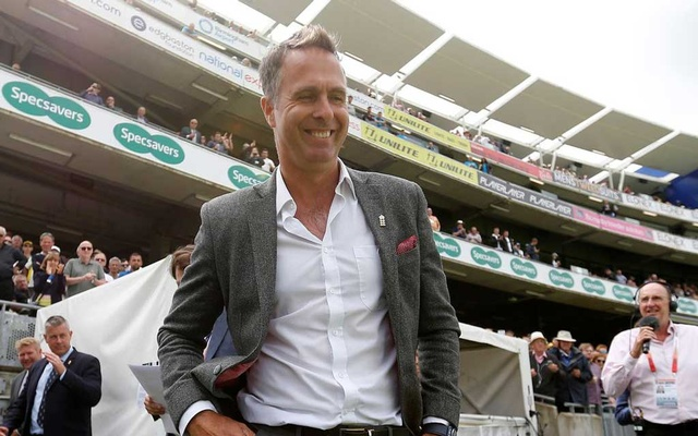 Cricket - Ashes 2019 - First Test - England v Australia - Edgbaston, Birmingham, Britain - August 1, 2019 Former England cricketer Michael Vaughan during a break in play Action Images via Reuters/Carl Recine