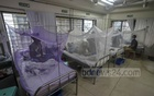 Dengue patients are kept inside mosquito nets at Islami Bank Central Hospital in Dhaka's Kakrail on Thursday, Jul 29, 2021. Photo: Asif Mahmud Ove