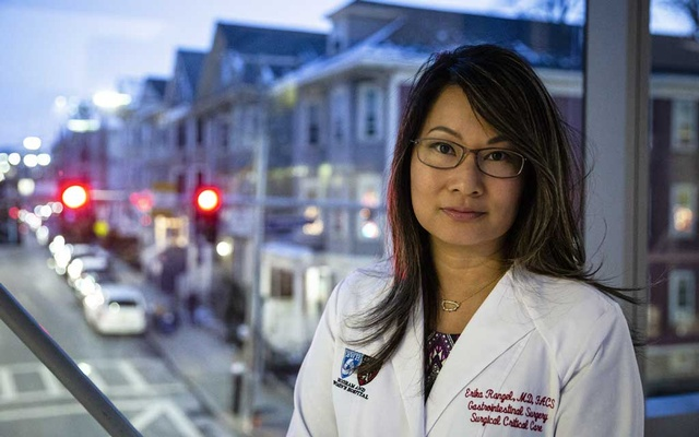 Dr Erika Rangel, a surgeon and a co-author of a study of pregnancy complications in American female surgeons, at Brigham and Women's Hospital in Boston, Dec 12, 2019. The New York Times