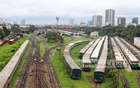 Trains lay in wait at Kamalapur Rail Station on Thursday, Jul 29, 2021, the seventh day of a lockdown imposed by the government to try and curb the COVID pandemic. Rail service is suspended during the lockdown. Photo: Asif Mahmud Ove
