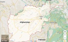 Map of Afghanistan. Screenshot taken from Google Maps.
