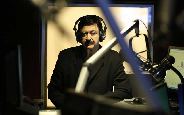 """George Noory, host of the nationally syndicated radio show """"Coast to Coast AM,"""" in his studio in the Sherman Oaks neighbourhood of Los Angeles, Feb 10, 2017. The New York Times"""
