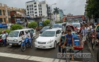 Traffic is almost normal at Bijoy Sarani on Monday, Aug 2, 2021, the 11th day of the post-Eid lockdown after the government allowed export-oriented factories to reopen. Photo: Mahmud Zaman Ovi