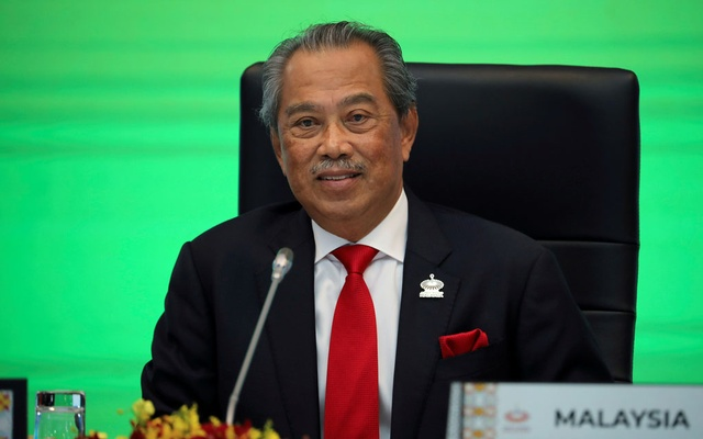 Malaysia's Prime Minister Muhyiddin Yassin speaks during opening remarks for virtual APEC Economic Leaders Meeting 2020, in Kuala Lumpur, Malaysia November 20, 2020. REUTERS/Lim Huey Teng/File Photo