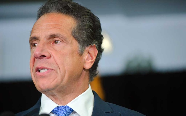 Gov Andrew Cuomo speaks in Brooklyn on July 14, 2021. Cuomo sexually harassed multiple women, including current and former government workers, and retaliated against at least one of the women for making her complaints public, according to a much anticipated report from the New York State attorney general released on Tuesday, Aug 3, 2021. (Johnny Milano/The New York Times