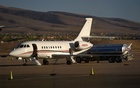 A business jet is refuelled at the Henderson Executive Airport during the National Business Aviation Association (NBAA) exhibition in Las Vegas, Nevada, US October 21, 2019. REUTERS