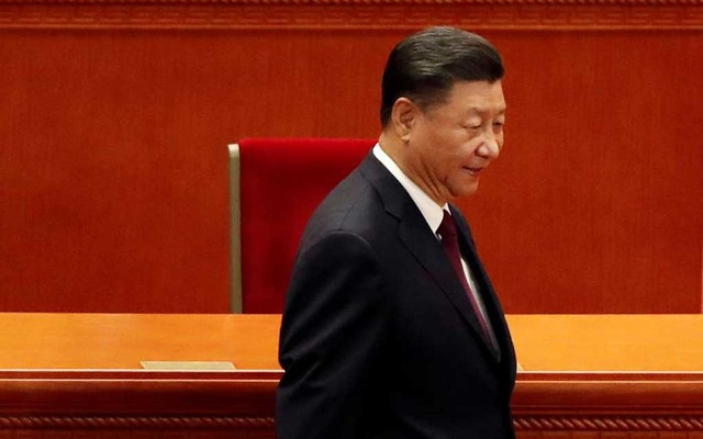 President Xi Jinping arrives for the meeting to commend role models in China's fight against the coronavirus disease (COVID-19) outbreak, at the Great Hall of the People in Beijing, China September 8, 2020. REUTERS/Carlos Garcia Rawlins