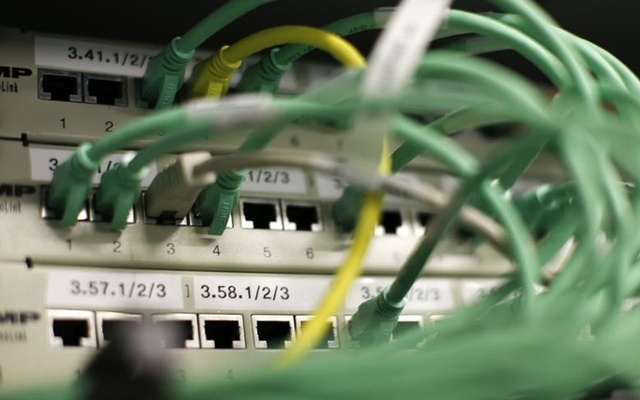 FILE PHOTO - Ethernet cables used for internet connections are pictured in a Berlin office, August 20, 2014. REUTERS
