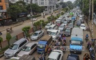 Cars occupy the Kakrail Road on the last day of the post-Eid lockdown designed to stem the soaring rate of coronavirus infections and fatalities on Tuesday, Aug 10, 2021. Photo: Asif Mahmud Ove
