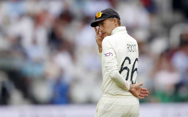 Cricket - Second Test - England v India - Lord's Cricket Ground, London, Britain - August 16, 2021 England's Joe Root reacts Action Images via Reuters/Paul Childs