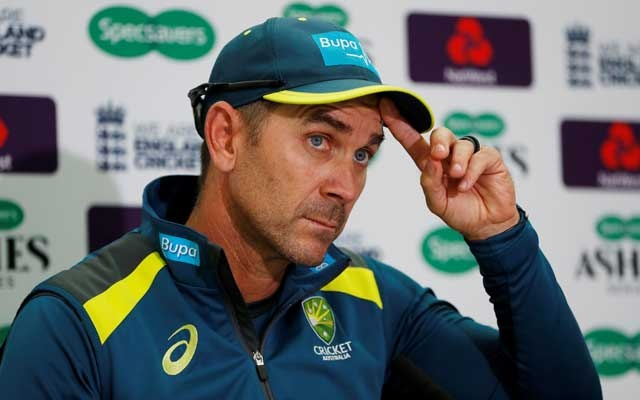 FILE PHOTO: Cricket - Australia Press Conference - Kia Oval, London, Britain - September 10, 2019 Australia head coach Justin Langer during the press conference Action Images via Reuters/Paul Childs/File Photo