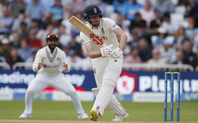 Cricket - First Test - England v India - Trent Bridge, Nottingham, Britain - August 6, 2021 England's Dom Sibley in action Action Images via Reuters/Paul Childs