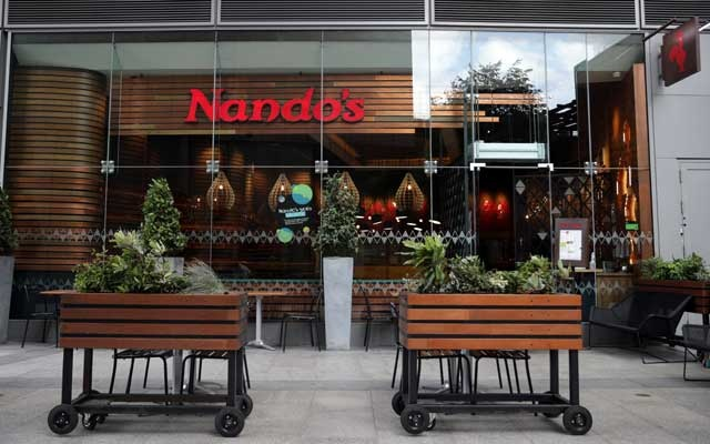 General view of a Nando's restaurant in London, Britain, August 18, 2021. REUTERS