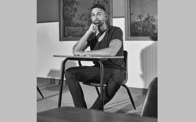 Dhar Mann, a serial entrepreneur turned YouTube star, at his studio in Burbank, Calif, July 6, 2021. Mann has built an online video empire on contemporary fables. (Maggie Shannon/The New York Times)