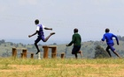 Pupils at Chesubet Primary school which produced 3,000 metres steeplechase gold champions in the past Olympics, compete during a steeplechase exercise session at the school's field in Marakwet East of Elgeyo-Marakwet County, Kenya August 6, 2021.