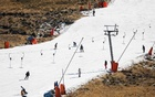 People ski at Kapoko Snow Park at Afriski Mountain Resort in Butha Buthe, Lesotho, July 31, 2021. Picture taken July 31, 2021. REUTERS