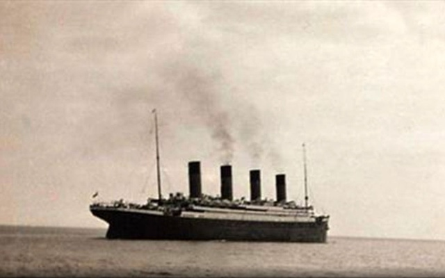 The RMS Titanic in what is thought to be the last known image of the ship as she sets sail from Queenstown for New York. REUTERS