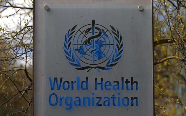 A logo is pictured outside a building of the World Health Organization (WHO) during an executive board meeting on update on the coronavirus disease (COVID-19) outbreak, in Geneva, Switzerland, April 6, 2021. REUTERS