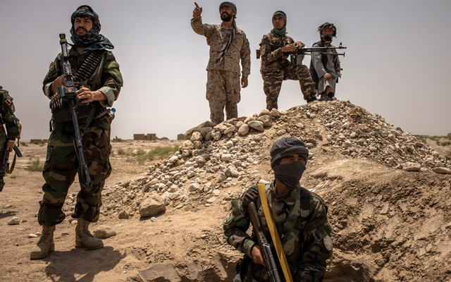 Anti-Taliban fighters near Mazar-i-Sharif, Afghanistan, Jul 10, 2021. Unrest and climate change are creating an agonising feedback loop that punishes some of the world's most vulnerable people. Jim Huylebroek/The New York Times