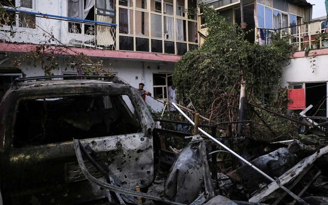 General view of a residence house destroyed after a rocket attack in Kabul, Afghanistan August 29, 2021. REUTERS/Stringer