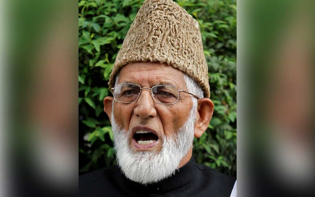 Syed Ali Shah Geelani, chairman of the hardliner faction of Kashmir's Hurriyat (Freedom) Conference, speaks during a news conference in Srinagar August 7, 2010. REUTERS