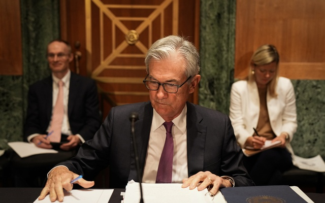 Federal Reserve Chairman Jerome Powell prepares to testify before the the Senate Banking Committee on Capitol Hill in Washington, July 15, 2021.