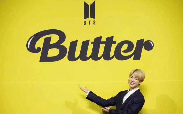K-pop boy band BTS member Jimin poses for photographs during a photo opportunity promoting their new single 'Butter' in Seoul, South Korea, May 21, 2021. REUTERS/Kim Hong-Ji
