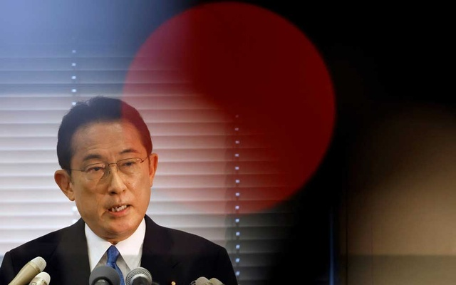 FILE PHOTO: Fumio Kishida, Japan's ruling Liberal Democratic Party (LDP) lawmaker and former foreign minister, announces his candidacy for the party's presidential election at a news conference in Tokyo, Japan, August 26, 2021. REUTERS/Issei Kato/File Photo