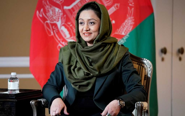 Afghan Ambassador to the United States Roya Rahmani speaks during an interview with Reuters in Washington, US, February 8, 2019. REUTERS