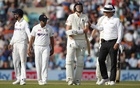 Fourth Test - England v India - The Oval, London, Britain - September 6, 2021 England's Craig Overton reacts after losing his wicket Action Images via Reuters
