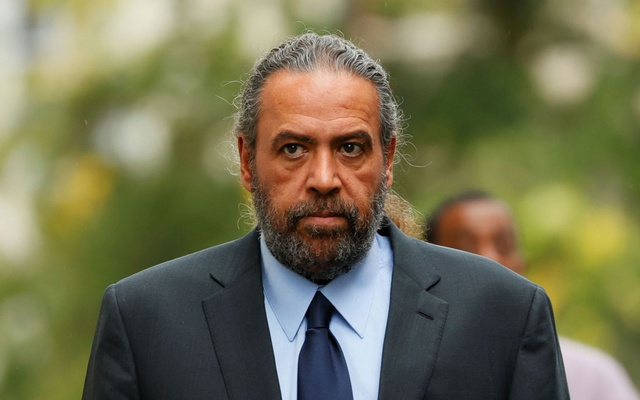 Sheikh Ahmad Al-Fahad Al-Ahmed Al-Sabah arrives at a courthouse ahead of the verdict for a trial for forgery in connection with arbitration, in Geneva, Switzerland, September 10, 2021. REUTERS/Denis Balibouse