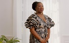 """Tarana Burke at her home in Baltimore, Aug 25, 2021. Until now, Burke — a devoted but little-known activist who now sits at the centre of a social movement that never seems to stop surging — has never told her own story. In her memoir, """"Unbound: My Story of Liberation and the Birth of the Me Too Movement,"""" she reveals a close but complicated historical link between the civil rights movement and MeToo. (Nate Palmer/The New York Times)"""