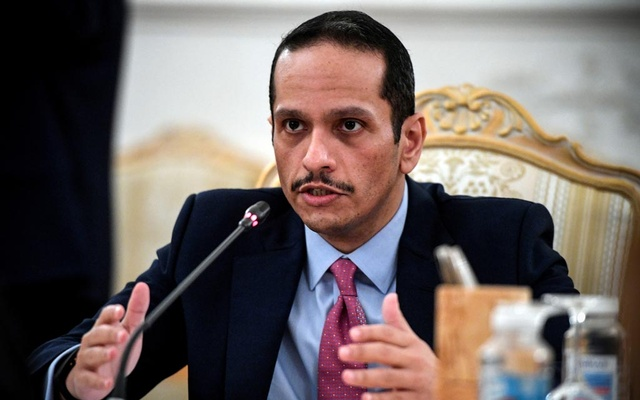 Qatari Foreign Minister Sheikh Mohammed bin Abdulrahman Al-Thani attends talks with Russian Foreign Minister Sergei Lavrov (not seen) in Moscow, Russia September 11, 2021. Alexander Nemenov/Pool via REUTERS