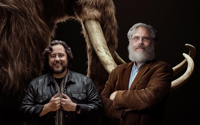 In an undated image provided by Colossal, Ben Lamm and George Church. With $15 million in private funding, Colossal aims to bring thousands of woolly mammoths back to Siberia — some scientists are deeply sceptical that will happen. Colossal via The New York Times