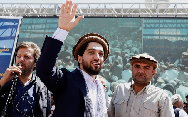 Ahmad Massoud, son of the slain hero of the anti-Soviet resistance Ahmad Shah Massoud, waves as he arrives to attend a new political movement in Bazarak, Panjshir province Afghanistan Sept 5, 2019. REUTERS/Mohammad Ismail