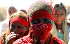 A woman is seen at the Um Rakuba refugee camp which houses Ethiopians fleeing the fighting in the Tigray region, on the the border in Sudan, December 3, 2020. Picture taken December 3, 2020. REUTERS