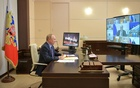 Russian President Vladimir Putin attends a meeting with the United Russia political party's leadership and members of the government via a video link in Moscow, Russia, Sept 14, 2021. Sputnik/Alexei Druzhinin/Kremlin via REUTERS