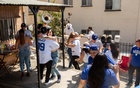 Family and friends celebrate Opening Day of the Dodgers' season in Los Angeles on Apr 9, 2021. Allison Zaucha/The New York Times